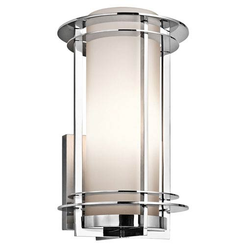 Pacific Edge Polished Stainless Steel Outdoor Wall Mounted Light - Width 9.5 Inches  sc 1 st  Bellacor & Stainless Steel Outdoor Wall Lighting Free Shipping | Bellacor