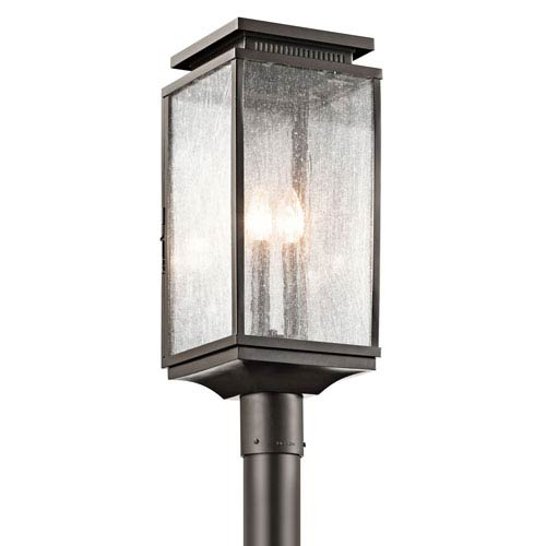Kichler Manningham Olde Bronze Three Light Outdoor Post Lantern
