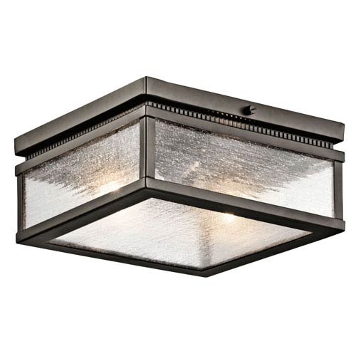 Manningham Olde Bronze Two Light Outdoor Flush and Semi Flush Mount