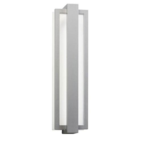 Kichler Sedo Platinum 6-Inch 12-Light LED Outdoor Small Wall Sconce