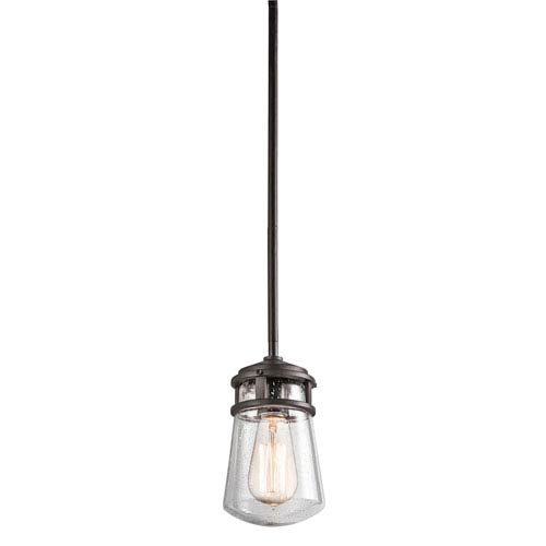 Lyndon Architectural Bronze 5-Inch One Light Outdoor Hanging Mini Pendant