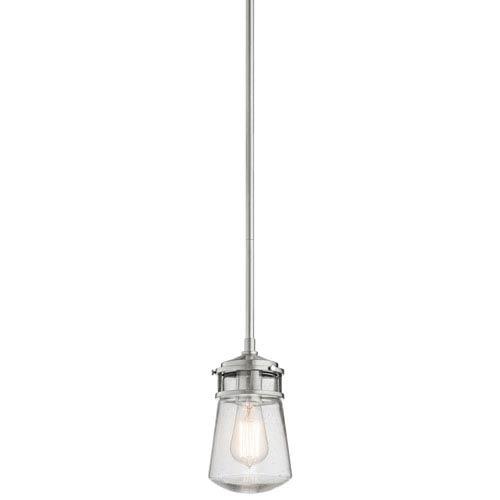 Lyndon Brushed Aluminum 9.5-Inch One-Light Outdoor Pendant
