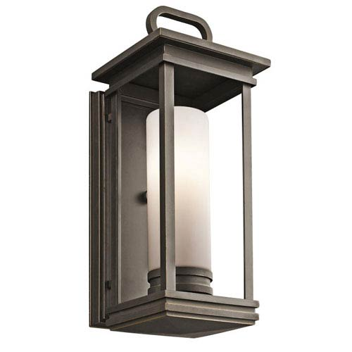 South Hope 17.75-Inch Tall Rubbed Bronze Outdoor Wall Light