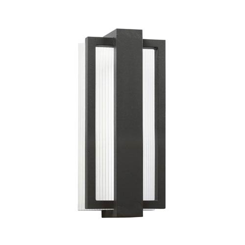 Kichler Sedo Satin Black Six Light LED Outdoor Small Wall Sconce