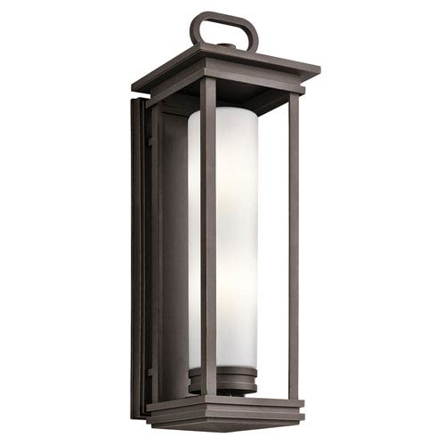 South Hope Rubbed Bronze Two-Light Outdoor Wall Mount