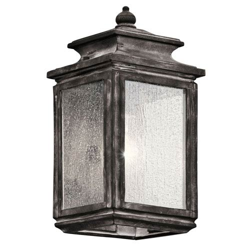 Wiscombe Park Weathered Zinc One Light Small Outdoor Wall Sconce