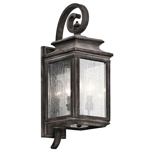 Wiscombe Park Weathered Zinc Three Light Medium Outdoor Wall Sconce