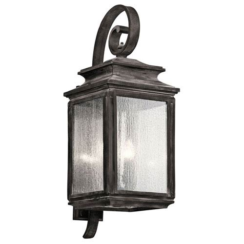 Kichler Wiscombe Park Weathered Zinc Four Light X-Large Outdoor Wall Sconce