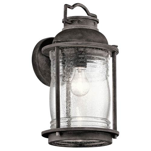 Kichler Ashland Bay Weathered Zinc One-Light Outdoor Wall