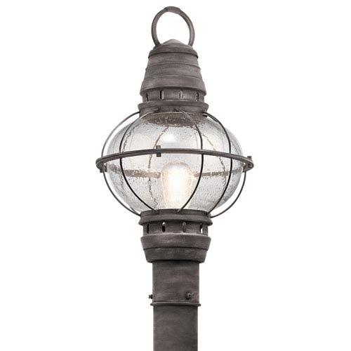 Bridge Point Weathered Zinc One-Light Outdoor Post Lantern
