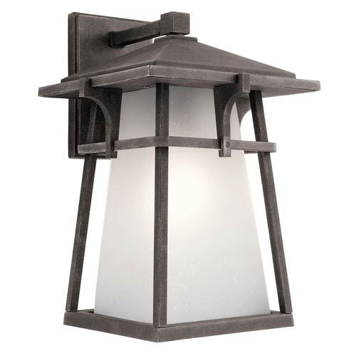 Beckett Weathered Zinc 10-Inch LED One-Light Outdoor Wall Sconce