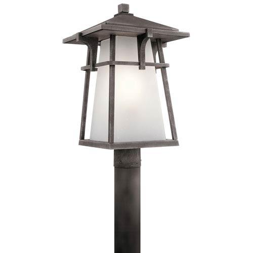 Beckett Weathered Zinc One-Light Outdoor Post Light