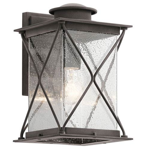 Argyle Weathered Zinc 8-Inch One-Light Outdoor Wall Sconce