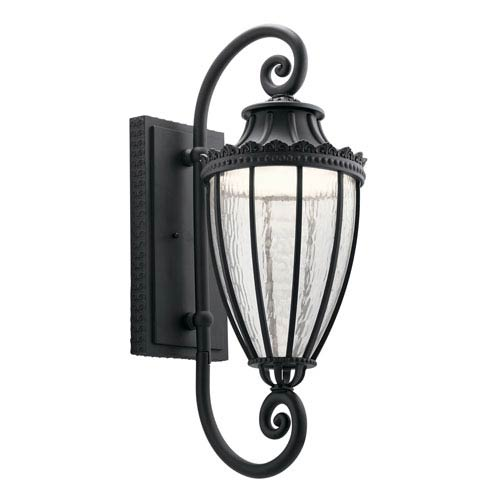 Kichler Wakefield Textured Black 11-Inch LED Outdoor Wall Light