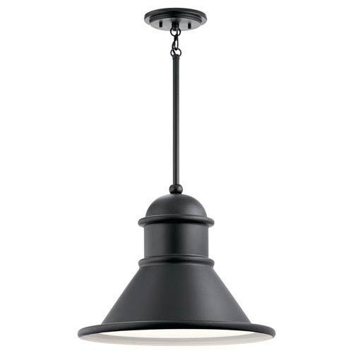 Kichler Northland Black 18-Inch One-Light Outdoor Hanging Pendant