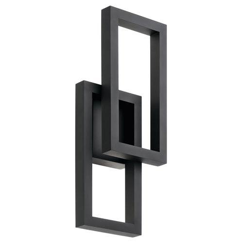Kichler Rettangolo Textured Black 8-Inch LED Outdoor Wall Light