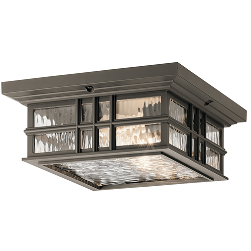 Beacon Square Olde Bronze 12-Inch Two-Light Outdoor Flush and Semi Flush Mount