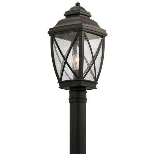 Kichler Tangier Olde Bronze 10-Inch One-Light Outdoor Post Lantern