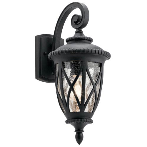 Kichler Admirals Cove Textured Black 8-Inch One-Light Outdoor Wall Light
