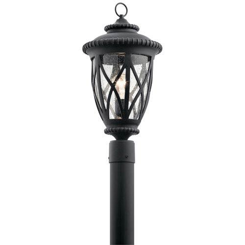 Kichler Admirals Cove Textured Black 10-Inch One-Light Outdoor Post Lantern