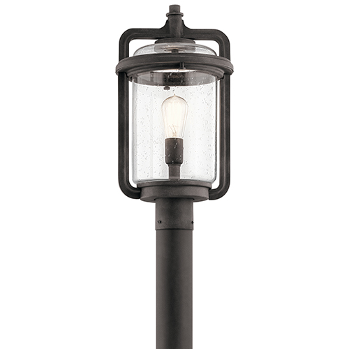 Andover Weathered Zinc 10-Inch One-Light Outdoor Post Lantern