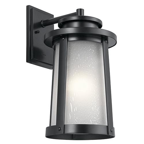 Kichler Harbor Bay Black 10-Inch One-Light Large Outdoor Wall Light