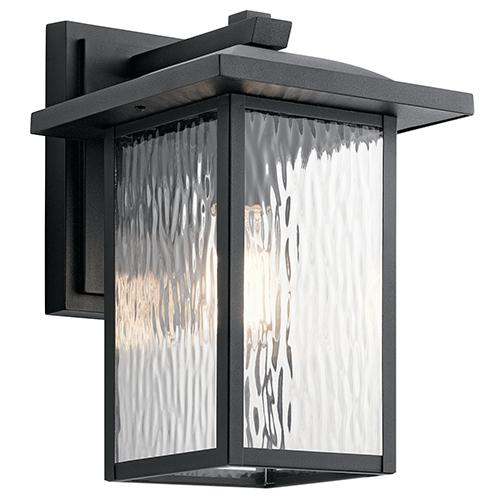 Kichler Capanna Textured Black 9-Inch One-Light Medium Outdoor Wall Light