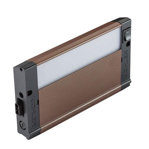 4U30K08BZT Bronze Textured 4U LED  8-Inch 3000K Undercabinet Light