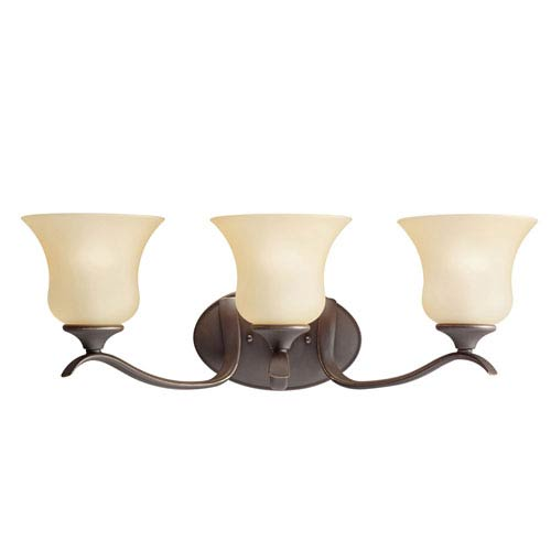 Wedgeport Olde Bronze Three-Light Bath Fixture
