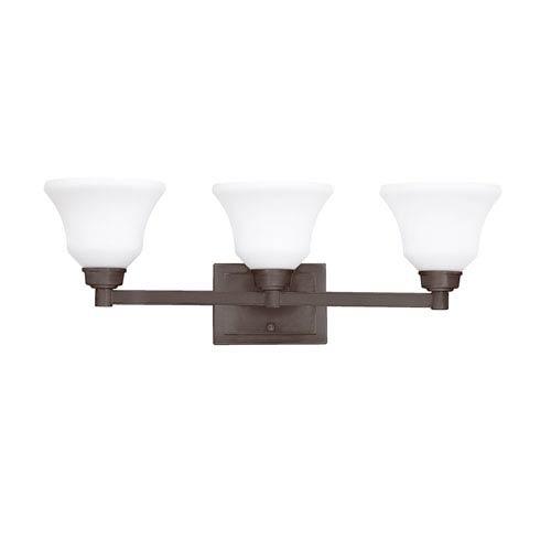 Kichler Langford Olde Bronze 26-Inch Energy Star Three-Arm Bath Light