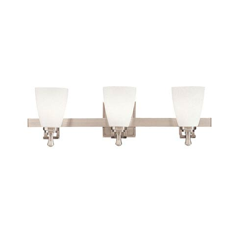 Uptown Brushed Nickel Three-Light Bath Fixture