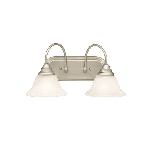 Telford Brushed Nickel Two-Light Bath Fixture