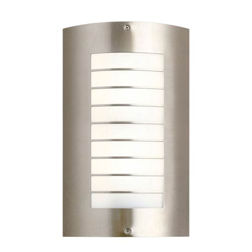 Newport Brushed Nickel Two Light Large Outdoor Wall Sconce