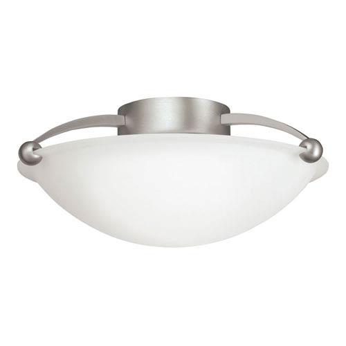 Brushed Nickel Medium Semi-Flush Ceiling Light