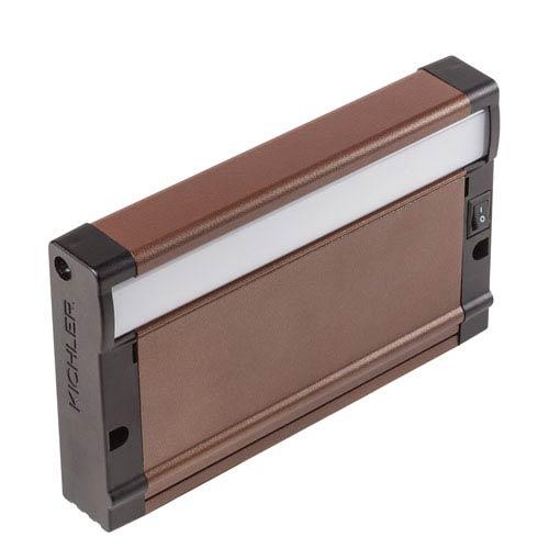 Kichler 8U27KD07BZT Bronze Textured 8U 7-Inch 2700K LED Undercabinet Light Direct Wire Only