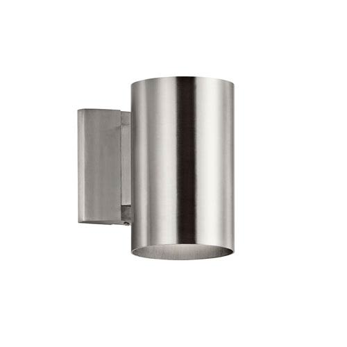 Brushed Aluminum One-Light Outdoor Wall Mount