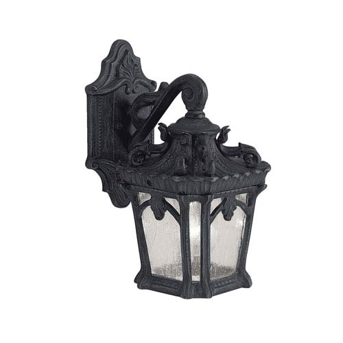 Kichler Tournai One-Light Textured Black Square Outdoor Wall Lantern