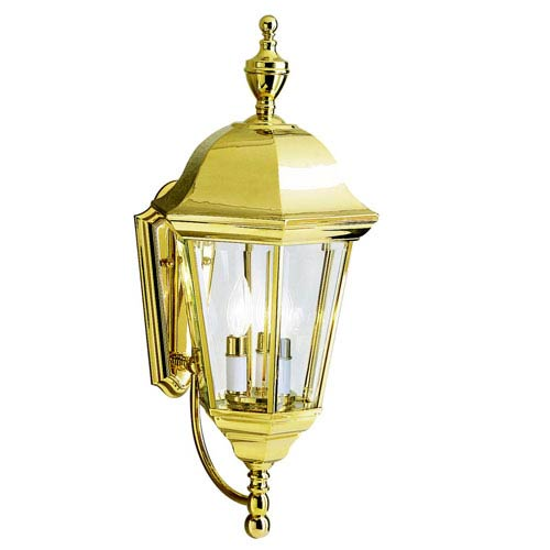 Brass polished outdoor lighting free shipping bellacor outdoor wall mount light aloadofball Images