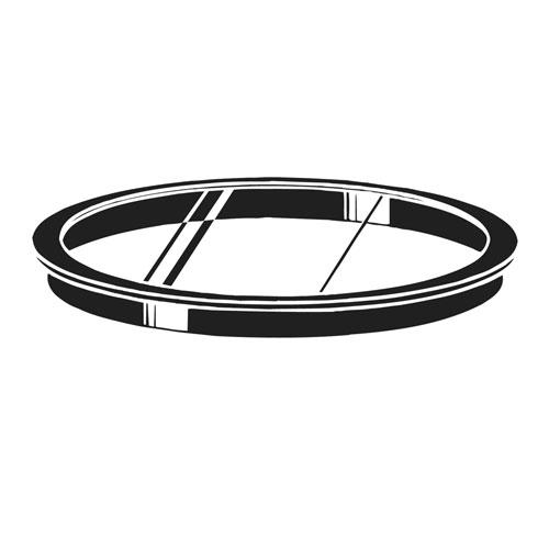 Kichler Large Glass Lens - Black Frame