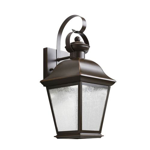 Kichler Mount Vernon Olde Bronze 7.5-Inch 28-Light LED Outdoor Small Wall Sconce