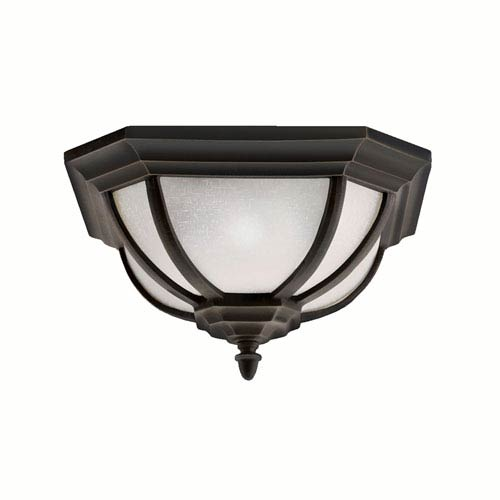 Salisbury Outdoor Rubbed Bronze Flush Mount Ceiling Light
