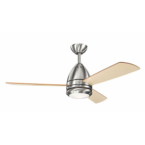 Eva Brushed Stainless Steel One-Light 46-Inch Ceiling Fan