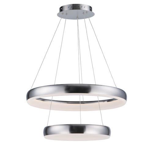Innertube Satin Nickel Two-Light LED Multi-Light Pendant