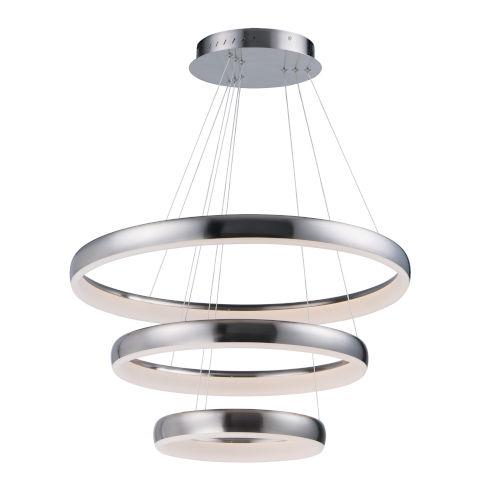 Innertube Satin Nickel Three-Light LED Multi-Light Pendant