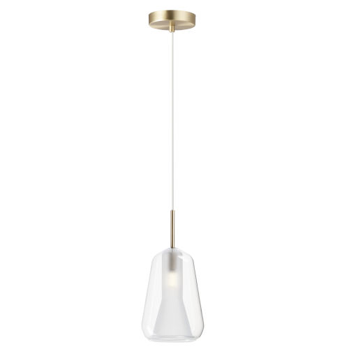 Brik Satin Brass One-Light LED Pendant