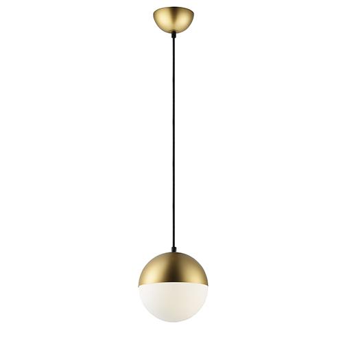 Half Moon Metallic Gold LED Mini Pendant