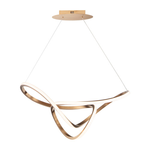 Perpetual Brushed Champagne 32-Inch LED Pendant