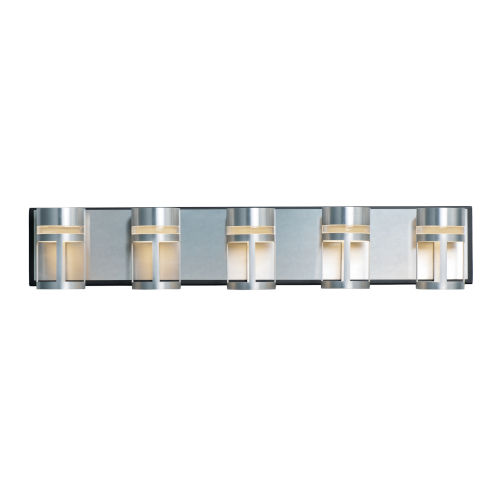 Accord Black and Brushed Aluminum 31-Inch Five-Light LED Bath Vanity