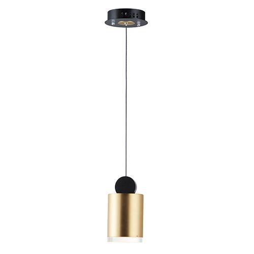 Nob Black and Gold Four-Inch LED Mini Pendant