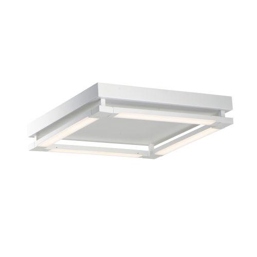 Rotator Matte White 20-Inch Four-Light LED Flush Mount